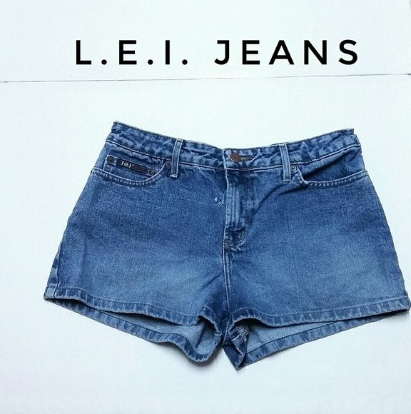 L.E.I. Jeans Pants - Junior's L.E.I. Jeans Denim Shorts Size 9